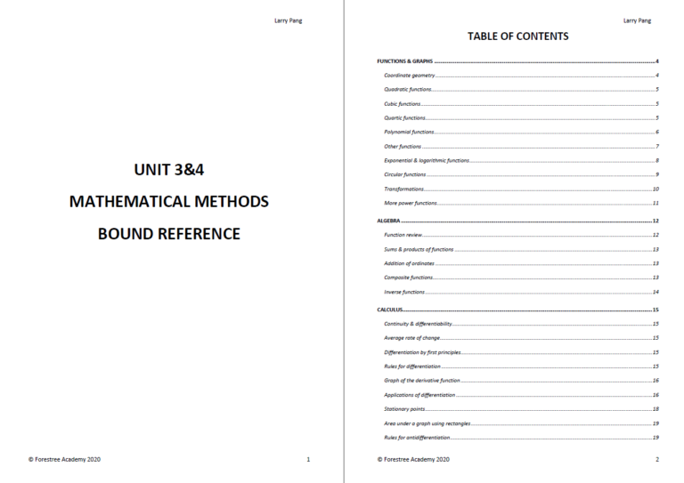 How to make Bound Reference: Table of Content